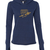 Frederick Warriors - Ladies' Triblend Long Sleeve Hooded Pullover